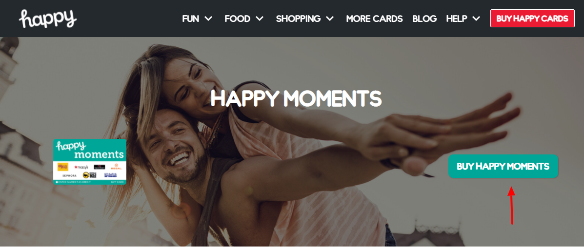 Happy Moments Gift Card Buy